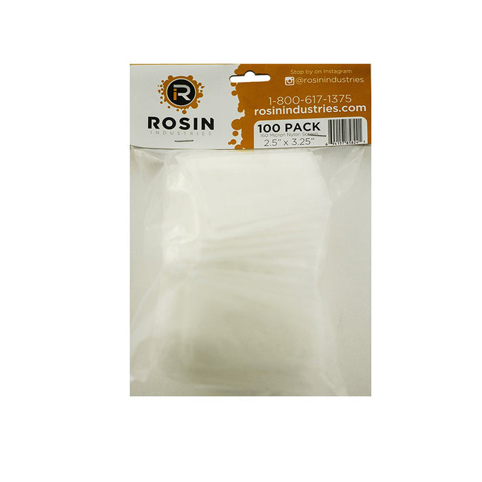 "Rosin Industries 2.5"" x 3.25"" 160 Micron Extraction Bags (100 Pack)"
