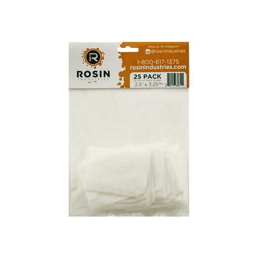 "Rosin Industries 2.5"" x 3.25"" 25 Micron Extraction Bags (25 Pack)"