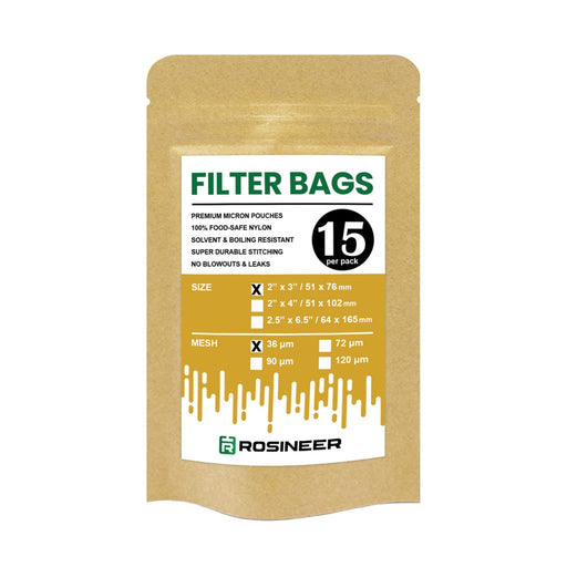 "Rosineer 2"" x 3"" Rosin Filter Bags - All Micron Sizes (15 pack)"