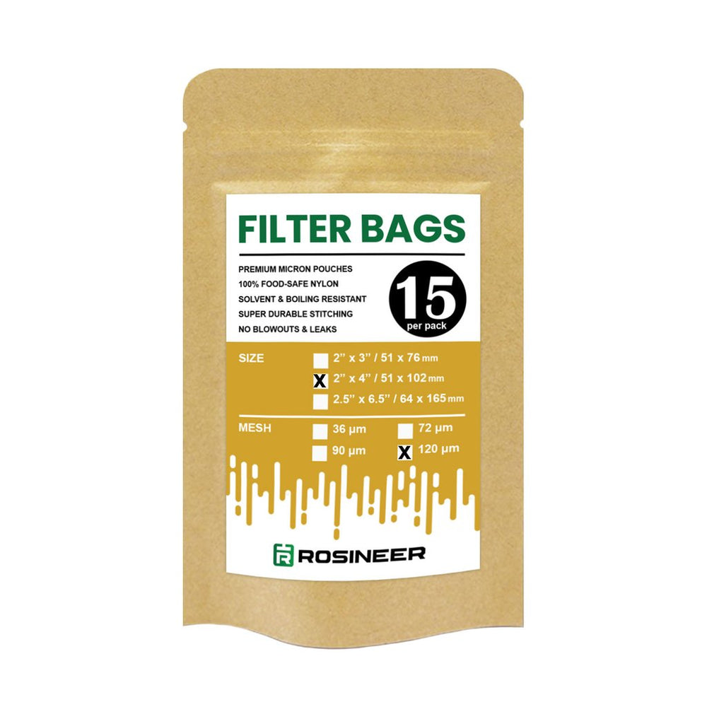 "Rosineer 2"" x 4"" Rosin Filter Bags - All Micron Sizes (15 pack)"