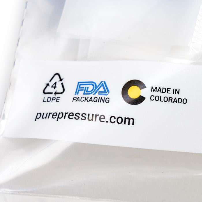 "Pure Pressure 2.5"" x 9"" Food Grade Nylon Mesh Rosin Filter Bags (All Micron Sizes)"