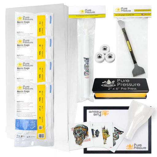 Pure Pressure Helix Pro Rosin Press Complete Accessory Kit