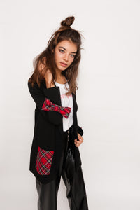 Red Bow Oversize Jacket