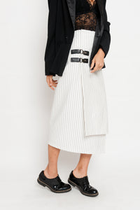 White Stripes Skirt