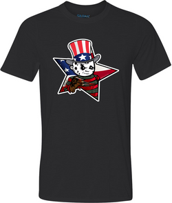 4th of July Freddy Adult Graphic Shirt
