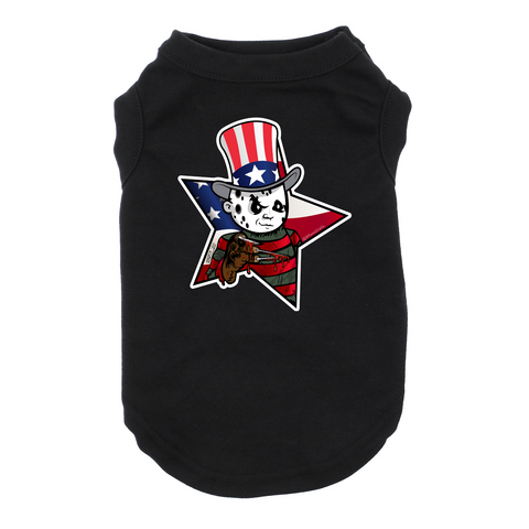 4th of July Freddy Dog Black Tshirt Cat T-Shrit