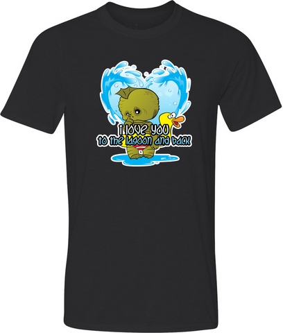 Valentine Creature from the Black Lagoon Adult Graphic T-Shirt