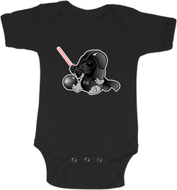 Baby Darth Vader Graphic Onesie or Tee