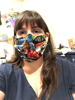 Spooky Multi-Layer Face Masks with Filter Pocket
