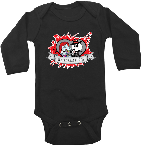 Valentine Jack & Sally Graphic Onesie or Tee
