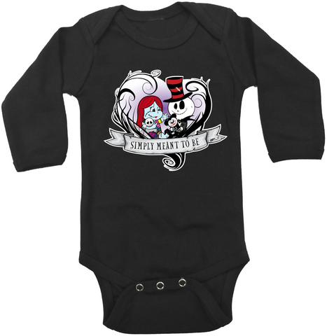 Jack & Sally Vine Heart Onesie or Tee