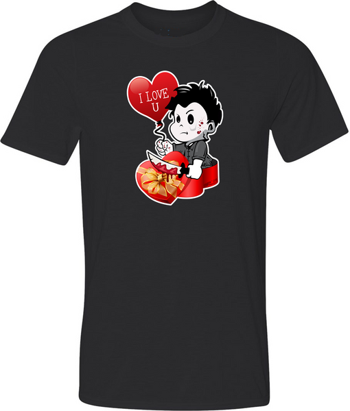 Valentine Michael Myers Adult Graphic T-Shirt