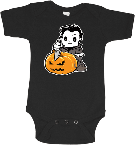 Micheal Myers Black Onesie