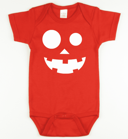 Glow in the Dark Pumpkin 1 Onesie or Tshirt-Spooky Baby
