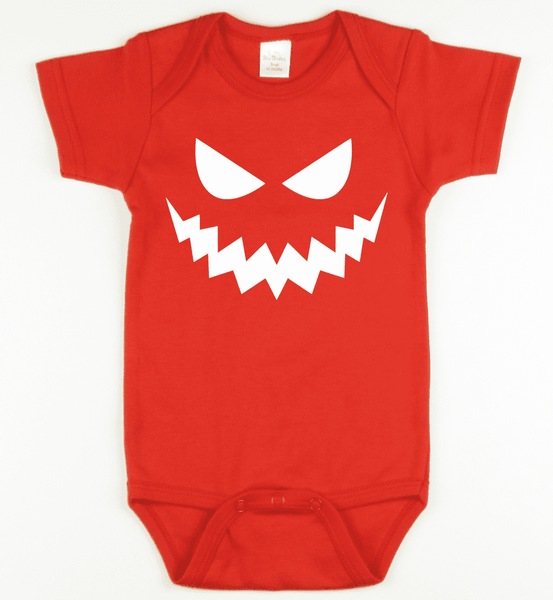 Glow in the Dark Pumpkin 2 Onesie or Tshirt-Spooky Baby