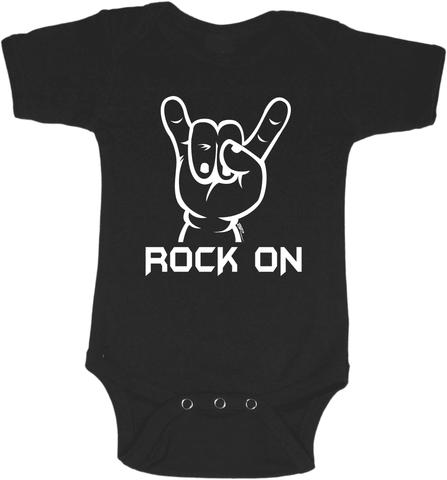 Black Rock On Onesie or Tshirt-Spooky Baby