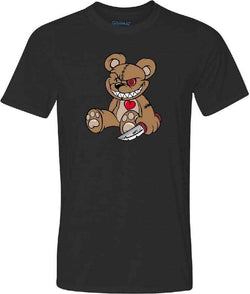 Evil Teddy Bear Adult Graphic TShirt-Spooky Baby