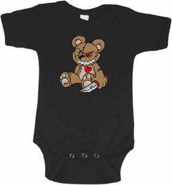Evil Teddy Bear Graphic Onesie or Tee-Spooky Baby