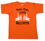 This Girl Loves Halloween Onesie or Tshirt-Spooky Baby