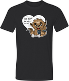 Valentine Wolfie Adult Graphic T-Shirt