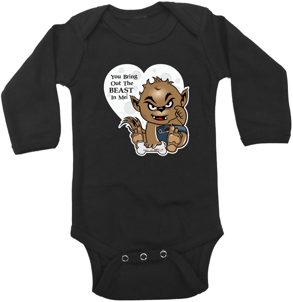 Valentine Wolfie Graphic Onesie or Tee