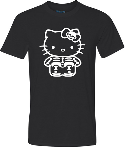 Bones Kitty Glow in the Dark Adult Graphic T-Shirt