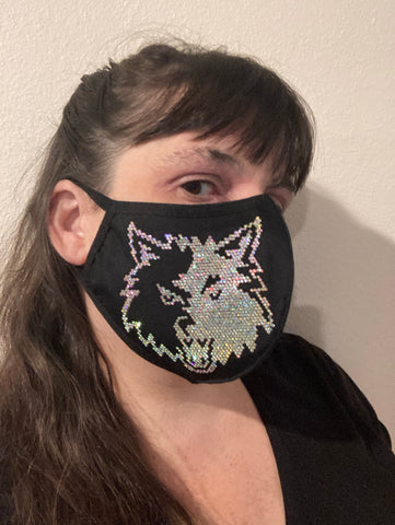 Bling Wolf Face Mask