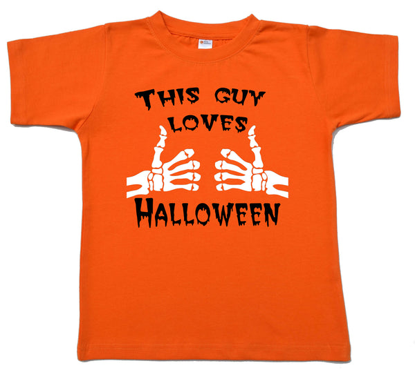 This Guy Loves Halloween Onesie or Tshirt