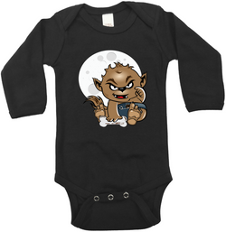 Wolfie Graphic Onesie or Tee
