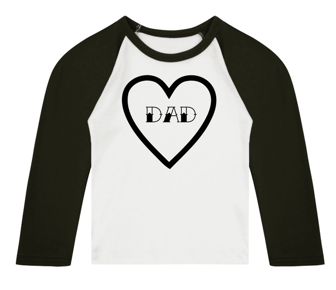 Dad Heart Raglan T-Shirt