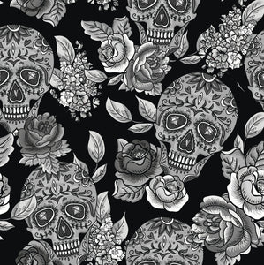 Monochrome Sugar Skull Bummies
