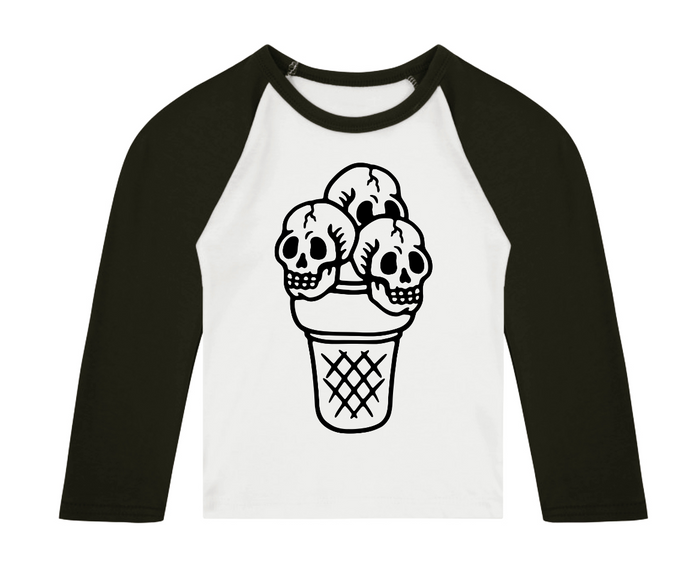 Ice Skulled Raglan T-Shirt