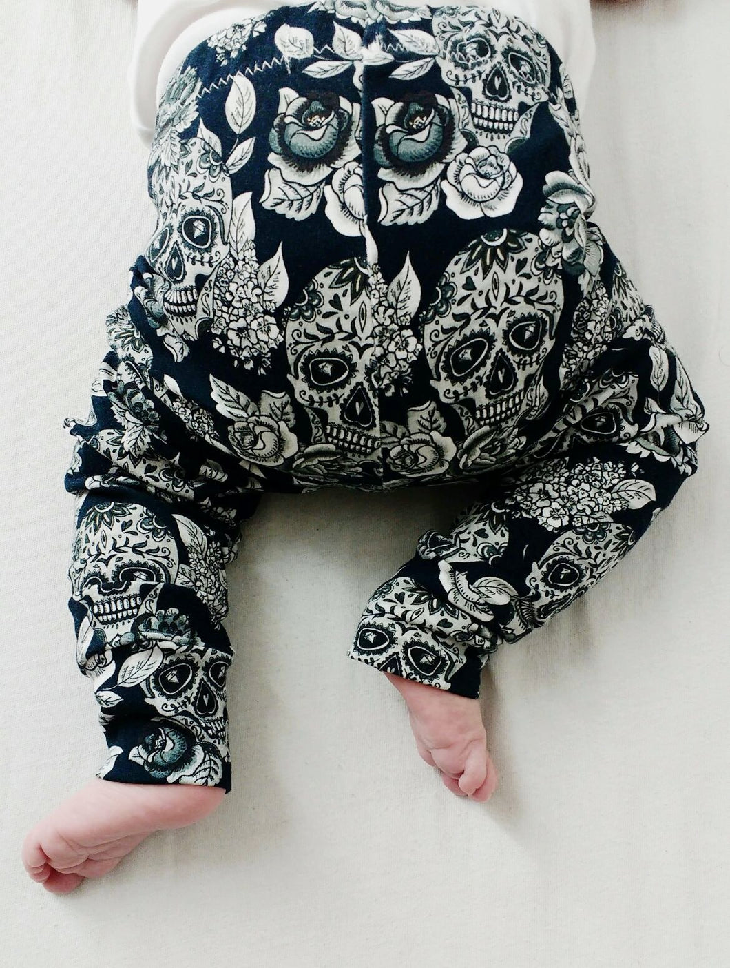 Monochrome Sugar Skull Leggings (12-18 months)