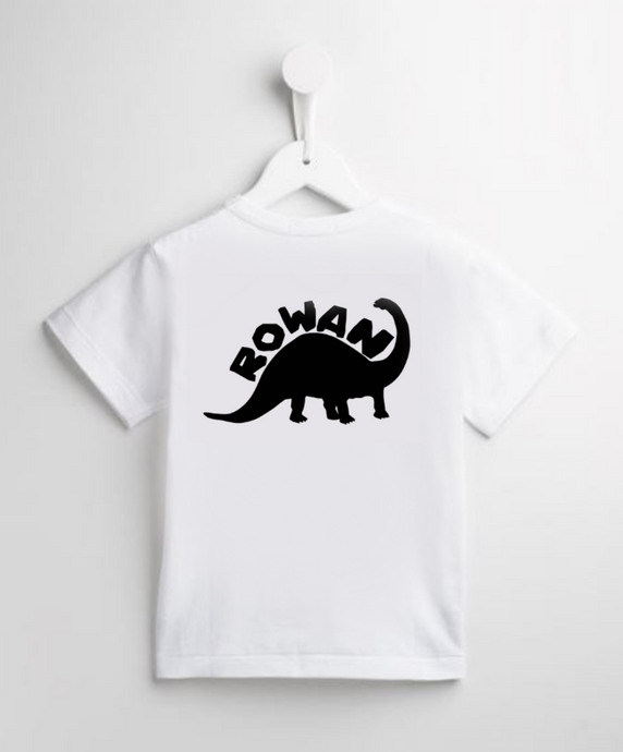 Personalised Dinosaur Name T-Shirt
