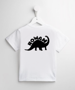 Personalised Name Dinosaur Bodysuit