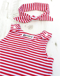 Red Stripe Romper (12-18 months)