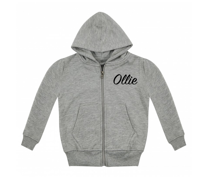 Personalised Name Zip Up Hoodie