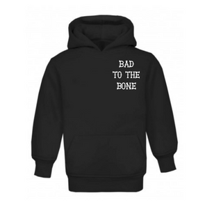 Bad To The Bone Pull On Hoodie 2-3 years
