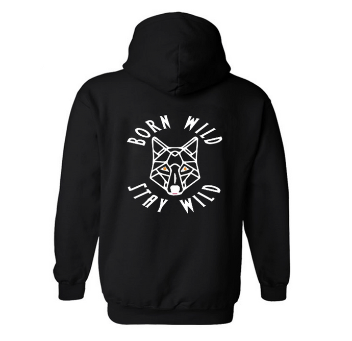 Born Wild Stay Wild Pull On Hoodie