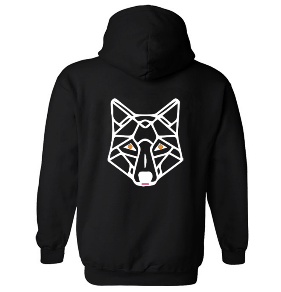 Wild Wolf Pull On Hoodie