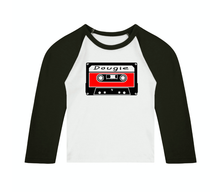 90s Mixtape Personalised Name Raglan