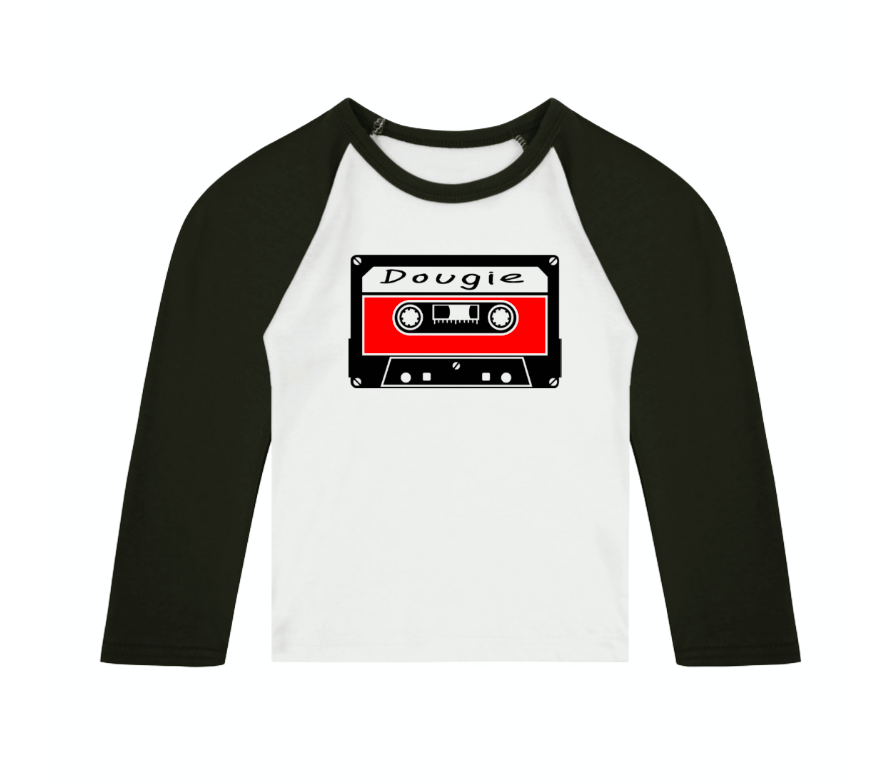 90s Mixtape Personalised Name 3/4 length sleeve Raglan