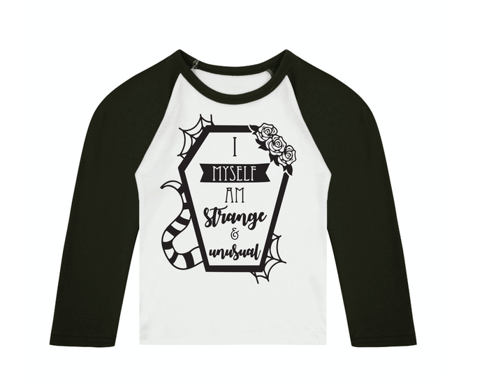 Strange & Unusual 3/4 length sleeve Raglan