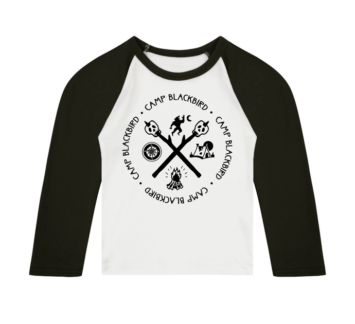 Camp Blackbird 3/4 length sleeve Raglan T-Shirt