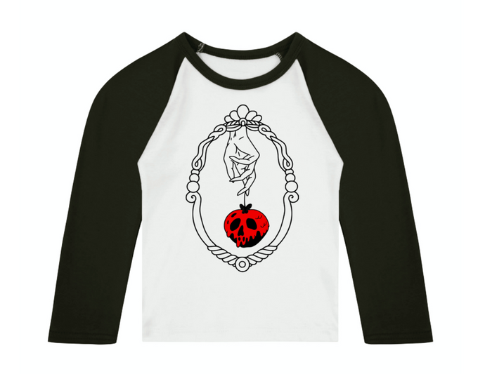 Bad Apple 3/4 length sleeve Raglan T-Shirt