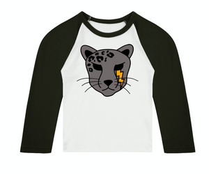 Pet Cheetah 3/4 length sleeve Raglan T-Shirt