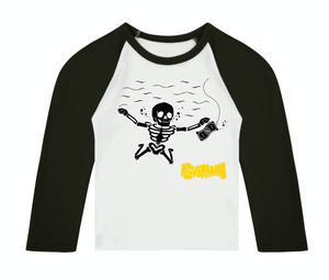 Nevermind 3/4 length sleeve Raglan T-Shirt