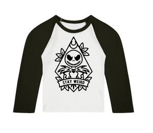 Stay Weird 3/4 length sleeve Raglan