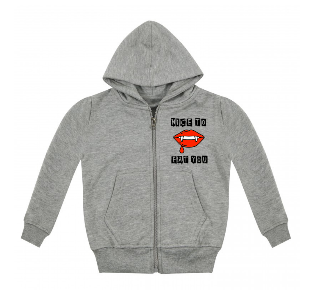 Nice To Eat You Zip Up Hoodie