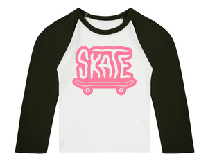 SKATE 3/4 length sleeve Raglan T-Shirt